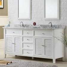 Direct Vanity Sink 70 Pearl White Shutter Double Vanity Sink ...