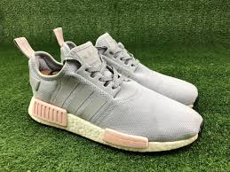 Clear Onix Light Onix Vapour Pink Adidas Nmd R1 Clear Onix Grey Light Vapour Pink Women Size 10 Pk Boost By3058