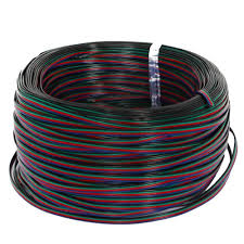 evz 4 color 10m rgb extension cable line for led strip rgb 5050