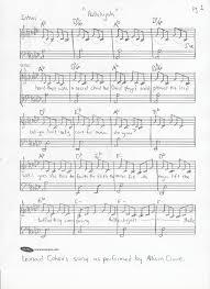 hallelujah piano sheet music words to hallelujah sheet music lyrics leonard cohen allison crowe