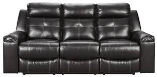 kempten reclining sofa in black 8210588
