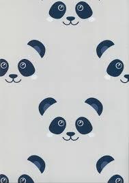 Behang Panda Faces Grijsblauw Fabs World