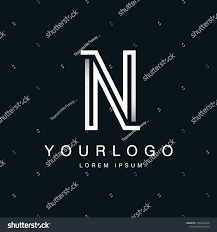 Design N Form Letter N Logo Design Labyrinth Form Stock Image Download Now