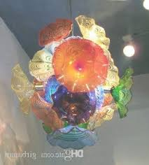 murano blown glass flower chandelier art decor dale chihuly style intended for hand blown glass