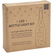 20 led bright white bottle light kit fairy lights battery top wedding decoration for