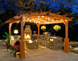 pergola string lights set a romantic mood in your backyard lighting patio with vintage string lights pergola