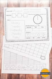 Daily Picture Calendar Free Kindergarten Daily Calendar Notebook 123 Homeschool 4 Me