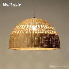 bamboo pendant light bamboo pendant lamp dinning living room suspension light handmade hollowed out bamboo work bamboo pendant light