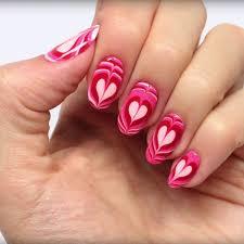 Heart Water Marble Nail Art Tutorial   POPSUGAR Beauty