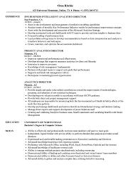 Analytics Director Resume Samples Velvet Jobs