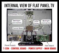 tv service repair manuals schematics and diagrams flat panel tv diagram of internal parts and circuit boards
