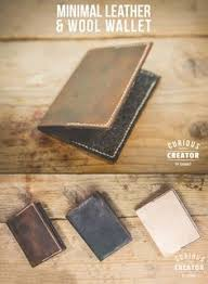 how to make this simple minimal leather and wool wallet