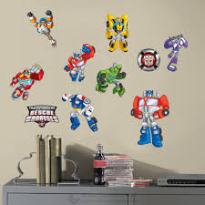 transformer rescue bots wall sticker nursery boy vinyl decal decor art mural diy