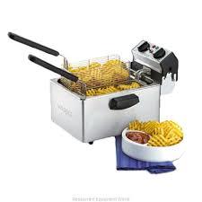 waring wdf75b fryer electric countertop full pot magnified