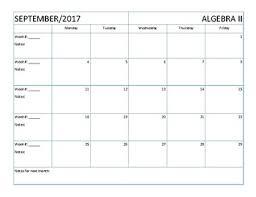 Lesson Plans Calendars Lesson Plans Calendar Blank