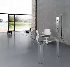large white office desk. Modern All Clear Glass Office Desk With White Chair Also Tripod Floor Lamp Large S