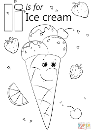 Letter I is for Ice Cream coloring page | Free Printable Coloring ...