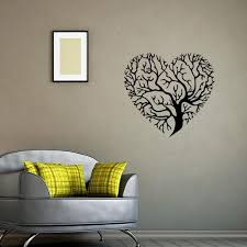 >heart shaped tree wall art mural decor sticker living room bedroom  heart shaped tree wall art mural decor sticker living room bedroom fashion decoration graphic poster transfer tree wall applique heart shaped tree wall art