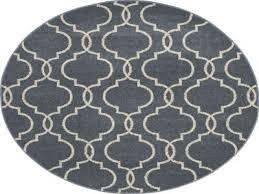 new casa quatrefoil 7 10 round area rug in blue taupe