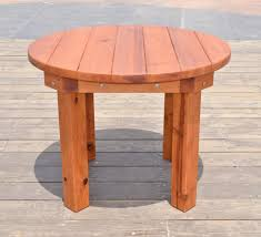 round patio table options 3 5 ft no seating redwood standard