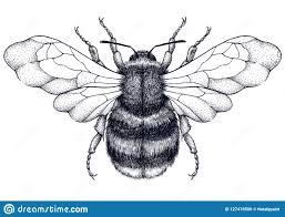 татуировка пчелы татуировка Dotwork мистический символ трудолюбия