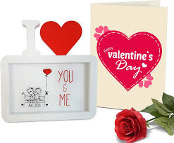 Valentines Day Gifts New Tiedribbons Valentine's Day Gifts For Boyfriend Photo FrameImage