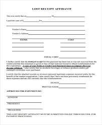 Template info Receipt 8 Missing Format Download Example Ideas Affidavit Sample Form - Mrstefanik Free Lost Samples