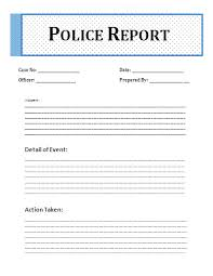 Crime Report Template Custom Printable Sample Police Report Template Form Laywers Template