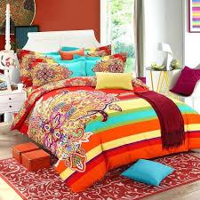brushed cotton bohemian bedding sets 4pcs queen king duvet cover set bedlinen bedclothes beautiful beddingbohemian covers