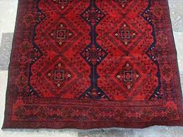 afghan khal i dark red area rug hand knotted wool carpet 6 5 x 4 0