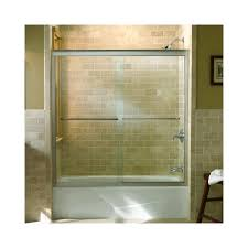 kohler k 702200 l mx matte nickel fluence frameless bypass bath door with crystal clear glass 58 5 16 h x 59 5 8 w faucet com