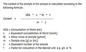 Titration Formula Titration Calculator Direct Titration Calculations