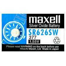 Silver Oxide Battery Chart Maxell 377 376 Sr626sw Silver Oxide Button Battery 1 55v 2 Pack Free Shipping