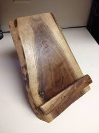 reclaimed wood cook book stand ipad stand or picture frame holder