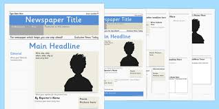 Newspaper Editorial Template Editable Newspaper Template