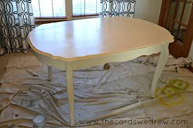 Paint A Kitchen Table Chalk Paint Dining Room Table Upcycle Adventure The Cards We Drew