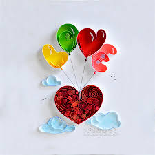 Small Picture Quilling wall art Paper quilling art Love Heart Quilling paper