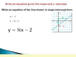 9 write an equation given the slope
