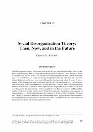 social disorganization theory essay social disorganization theory social disorganization theory essay gxart orgsocial disorganization theory then now and in the future springerinside