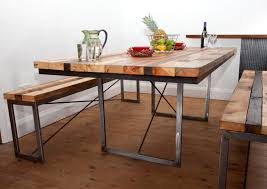 wood and metal dining table dining tables amazing reclaimed wood