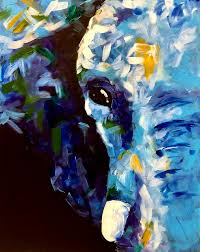 Wine And Design Wilmington Abstract Elephant