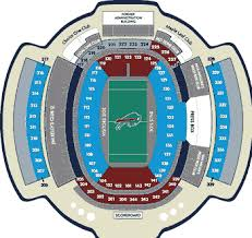 One Direction Buffalo Seating Chart The Official Seating Chart For New Era Field Home Of The