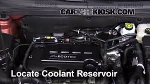 fix coolant leaks 2011 2016 chevrolet cruze 2011 chevrolet locate the coolant reservoir and clean it