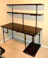 black pipe shelves iron pipe desk black iron pipe desk industrial computer desk shelves by black black pipe shelves