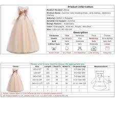 3 Year Old Clothing Size Chart Girls Wedding Dress Elegant Children Clothing Girls Christmas Dress Summer Maxi Kids Dresses For Girls Princess Dresses Vestidos Vova
