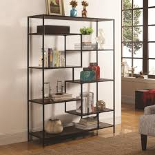 modern furniture shelves. Coaster Bookcases Modern Bookcase With Offset Shelves - Fine Furniture