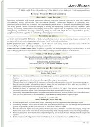 fashion buyer resumes retail merchandiser sample resume merchandiser resume example