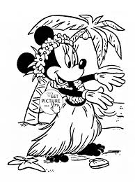 Small Picture Minnie in Hawaii coloring page for kids disney for girls coloring