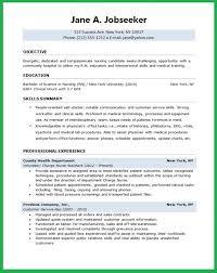 Nursing Resume Objective New Grad Recent Graduate Resume Examples