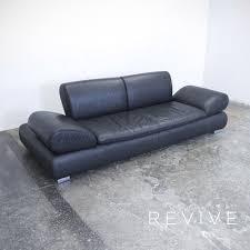 Couch Leder Schwarz Cool Bild Laauser Atlanta Designer Sofa